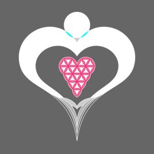 Heart Angel - Heart of Life, Design - White/Red