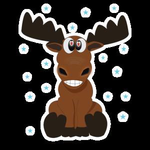 Funny Moose Lustiger Elch Rentier Geschenkidee
