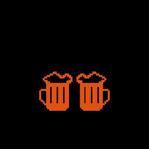 winter beer pixels design