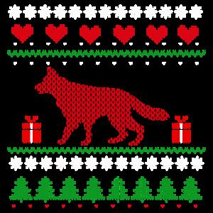Ugly Christmas Schäferhund Weihnachten Geschenk