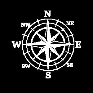 Nautik Windrose Kompass Seefahrt Maritim