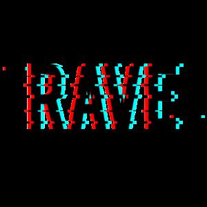 Rave Techno House EDM Glitch Effect Rave Wear