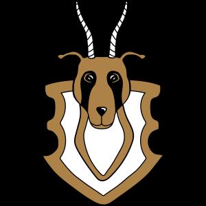 dekoration Antilope wand trophaee