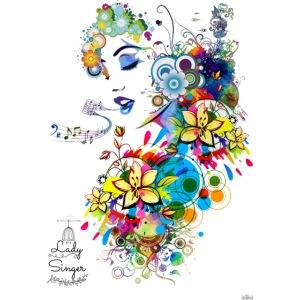 Lady singer -by- T-shirt chic et choc