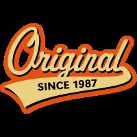 Original Since 1987 (Geburtsjahr, Geburtstag, 3C)