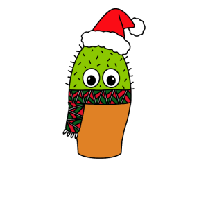Christmas Cactus - Cute Cactus With Christmas