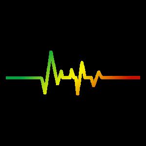 Herzschlag Heartbeat Puls Musik Farben Geschenk