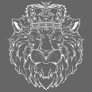 Löwe in weiss