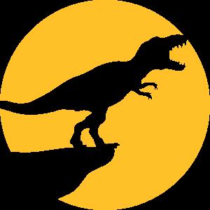 cool design nachts mond klippe heulen wolf t-rex t