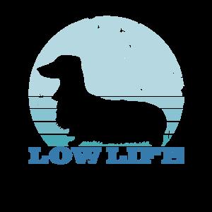 Retro Langhaardackel Hund