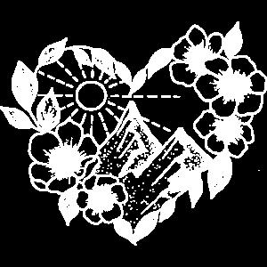Berge und Blumenherz