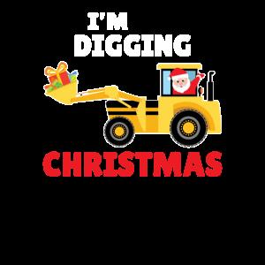 Weihnachten Bagger Bauarbeiter