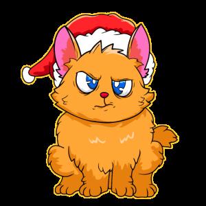 Katze Weihnachten Weihnachtsmütze