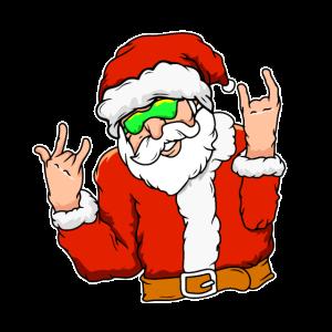 Weihnachtsmann Sonnenbrille Cool