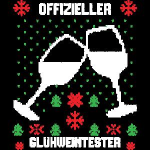 Ugly Christmas Shirt Offizieller Glühweintester