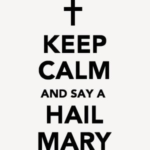 KEEP CALM - HAIL MARY APRON