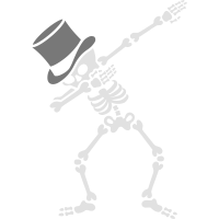 Dab Skeleton Bachelor party wedding high hat