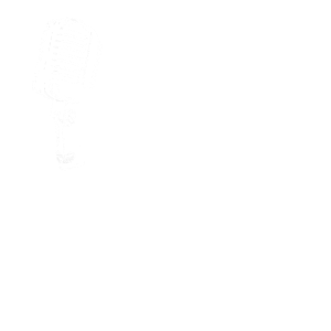 Retro Musik Mikrofon mit Musiknoten