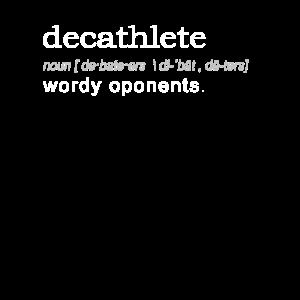 Lustige Decathlete lustige Geschenk-Definition auf Dunkelheit