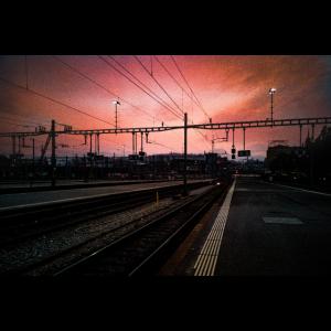 Abendstimmung am luzerner Hauptbahnhof