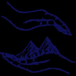 Berge und Hände