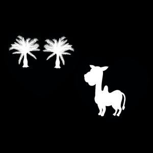 Dubai Kamel Dromedar Palmen