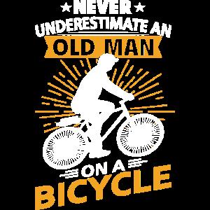Alter Mann Fahrradfahren unterschätzen Fahrrad Fun