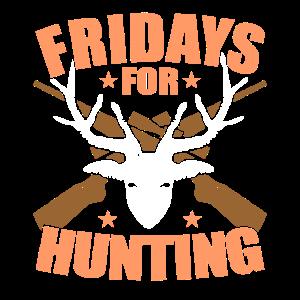 Fridays For Hunting Hunter Jäger Jagen Jagdverein