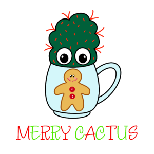 Merry Cactus - Small Cactus With Red Spikes In