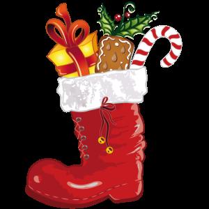 Nikolaus, Nikolausstiefel mit Süßigkeiten