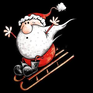 Weihnachtsmann auf Schlitten - Weihnachten - Comic