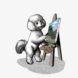 Bichon Frise Painter