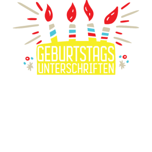 Geburtstag Unterschriften Geschenk Motiv Gelb Kerz