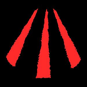 Keltisches Symbol Awen Rot