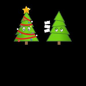 Lustige Weihnachtsbäume