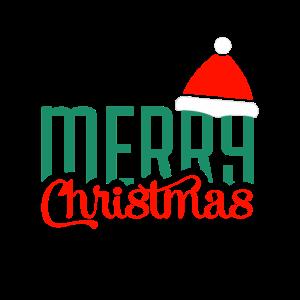 Merry Christmas mit Weihnachtsmütze