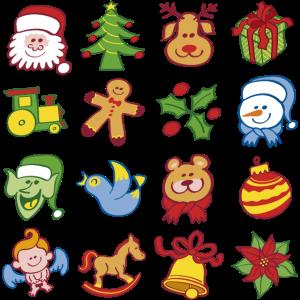 Traditionelle Weihnachtszeichen und -symbole