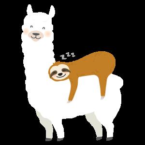 Faultier und Alpaka