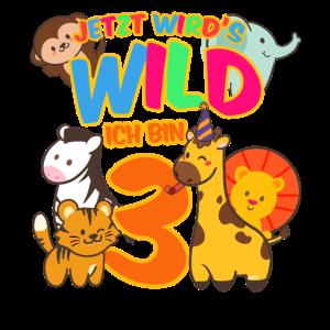 Zoo 3. Geburtstag Jungen Dschungel