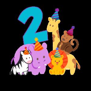 Dschungel 2. Geburtstag Jungen Zoo