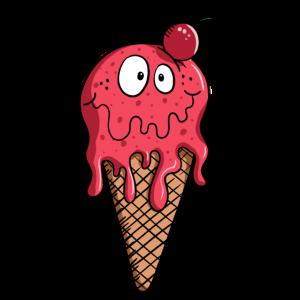 Lecker Eiscreme - Eis - Kirsch - Essen - Geschenk