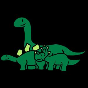 langhals stegosaurus 3 freunde team paar tricerato