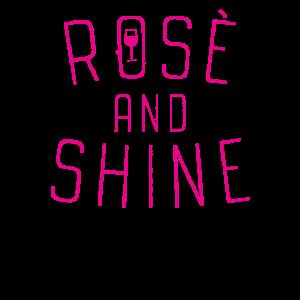 Lustiges Rosentrinkerzitat Rose und des Glanzes
