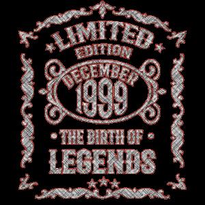 Dezember 1999 20. Geburtstag Jahrgang 99 Geschenk