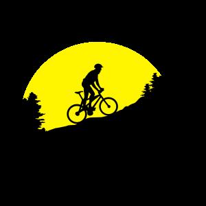 Mountainbike, Mountainbiker am Berg