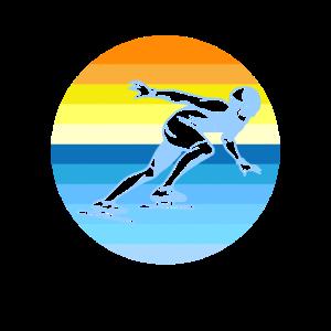 Eislaufen Eisschnelllaufen Retro