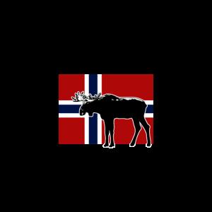 Moose - Elch - Norway Flag