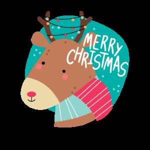 Lustiger Spruch Geschenk Weihnachten Rentier Santa