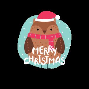 Lustiger Spruch Geschenk Weihnachten Rentier Eule