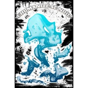 Poster - L'humanité se noie - look grunge noir